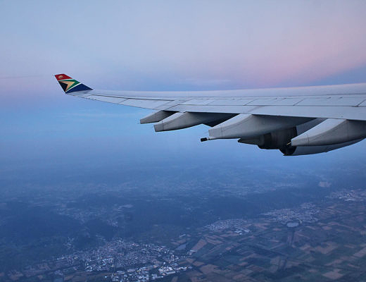 Foto: Flug nach Johannesburg