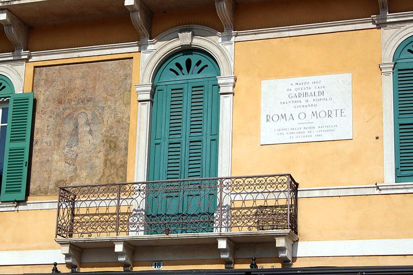 Foto: Hausfassade in Verona, 2016