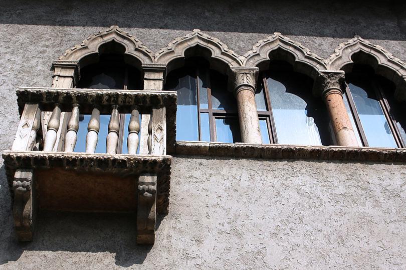Foto: Hausfassade beim Castelvecchio, 2016