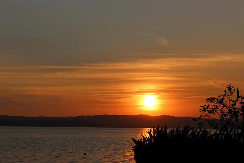 Foto: Sonnenuntergang über dem Gardasee, 2016